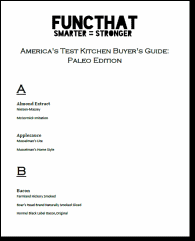 America's Test Kitchen Buyer's Guide: Paleo Edition