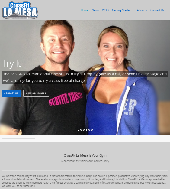 Build Web Site For CrossFit Gym